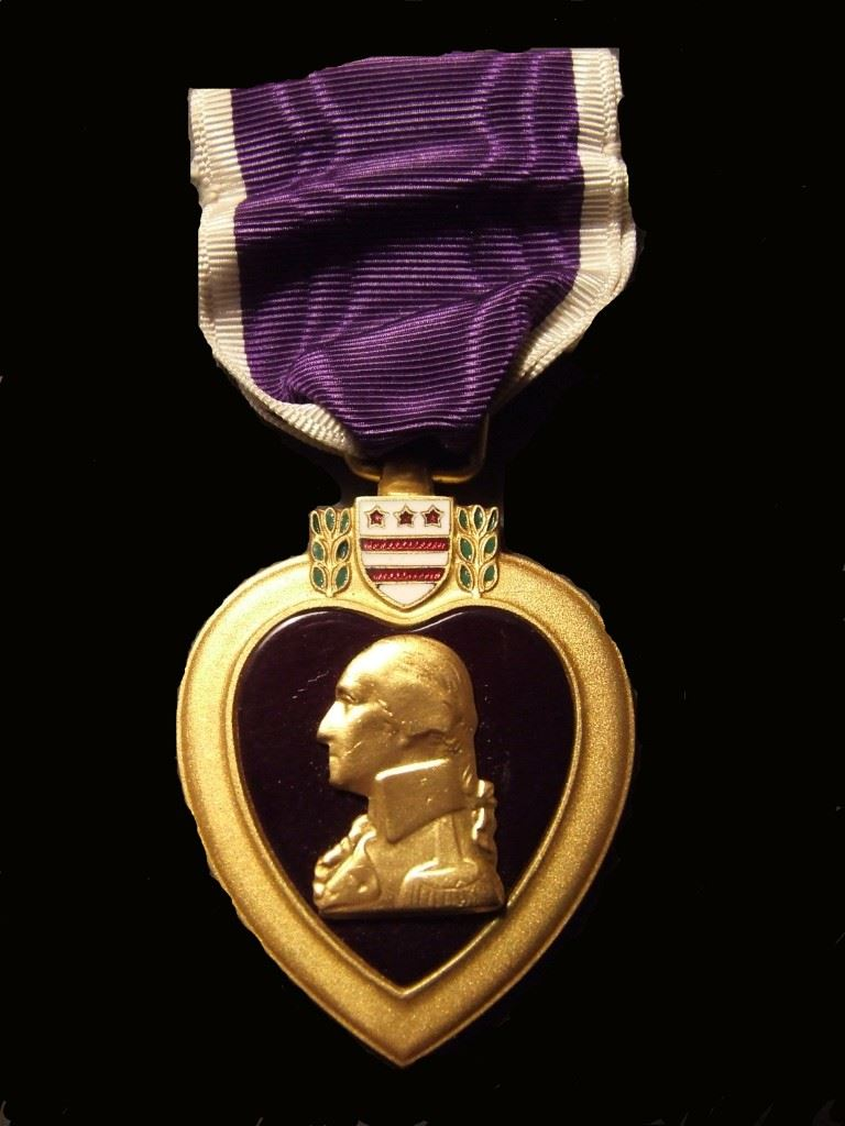 This is a picture of the Purple Heart Medal