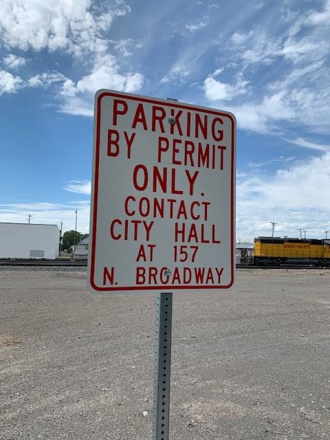 Street Sign Indicating that Permit Parking is Allowed
