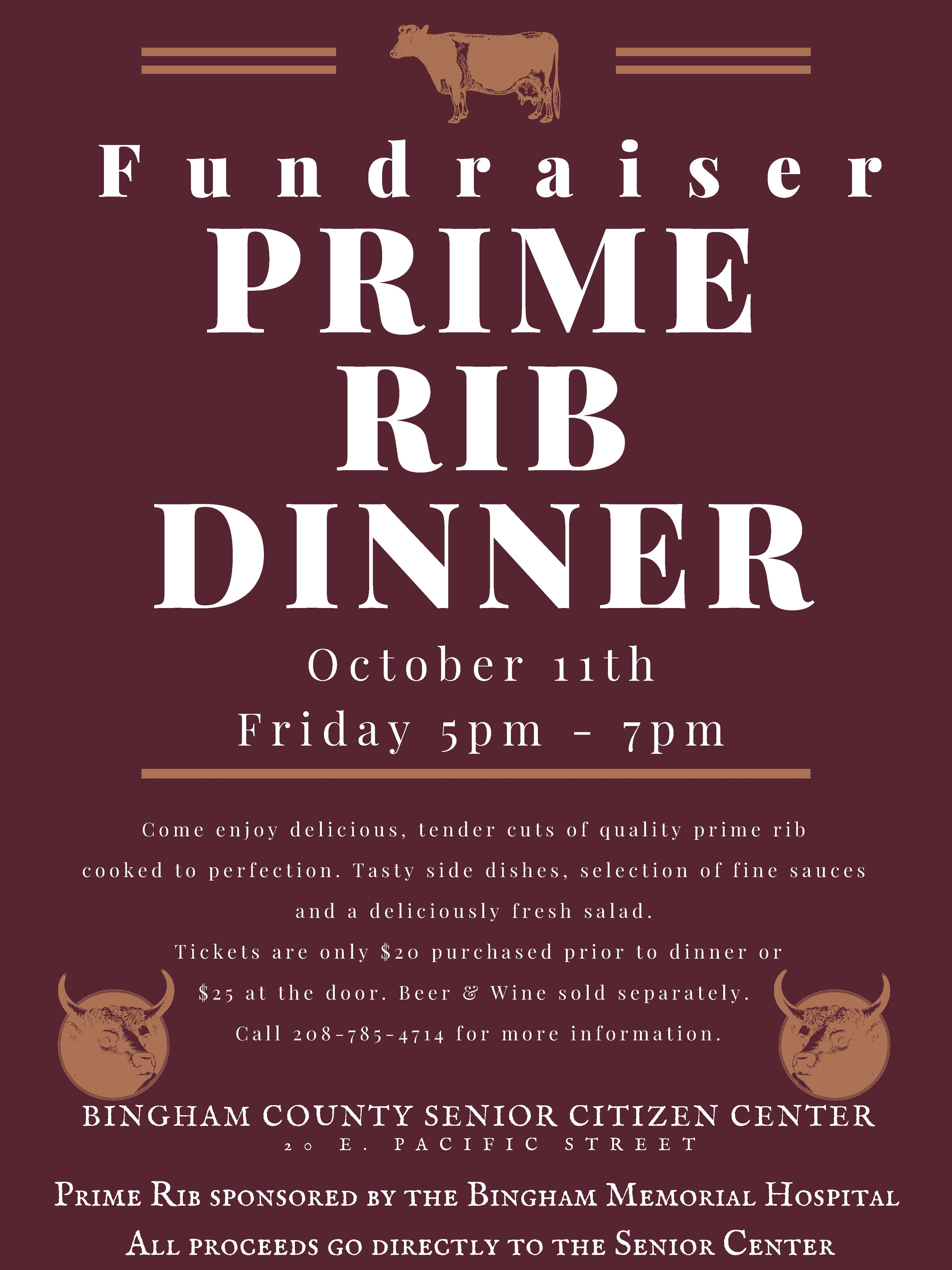 PRIME RIB DINNER 2019 FLYER WITH INFORMATION